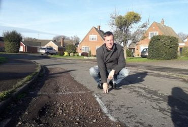 Councillor Ben Evans on Cavendish Avenue