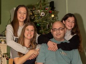 From left: Lanciano family Abbie, Hayley, Neil and Emily